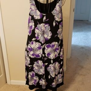 Two in one dress by Travel Smith. Large.  Prp/Blk